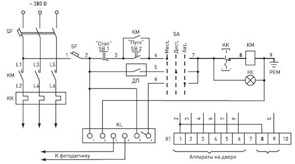 Принципиальная электрическая схема ЯУО.9602.