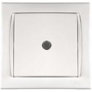 Camilya Выключатель проходной с подсветкой 1кл. (белый)(уп10/100шт)