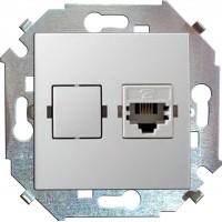Розетка компьютерная RJ-45 (белая) Simon 15 (уп/20шт) без рамки 1591598-030