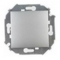 Выключатель 1кл. (алюминий) Simon 15 (уп/20шт) без рамки 1591101-033