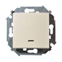 Выключатель 1кл. с подсветкой (сл.кость) Simon 15 (уп/20шт) без рамки 1591104-031