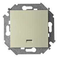 Кнопка клавишная с подсветкой (сл.кость) Simon 15 (уп/20шт) 1591160-031