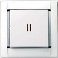 Выкл. 1кл. с подсветкой (белый) Simon 34 34104-30