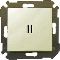 Выкл. 2кл. с подсветкой (сл.кость) Simon 34 34392-31