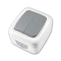 Выключатель 2 кл. IP54 32.01.002.0601 T.plast