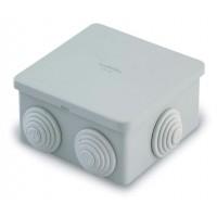 Распаячная коробка с втулками 80х80х40мм IP44 (уп/100шт) T.Plast