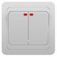 Выключатель 2кл инд. с/у 10А 250В белый Classic 2123 POWERMAN (уп/10/200шт)