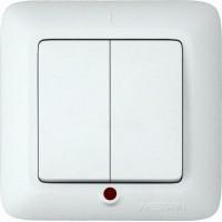 Выключатель С56-039 (С/П,2-кл,инд) Прима