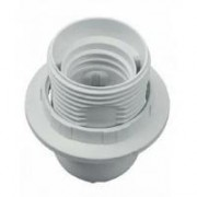 Патрон Е27 люстровый белый 60Вт (пластмасса) РТ-1015