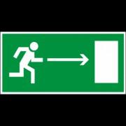 Направление к эвакуационному выходу направо (150х300)