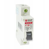 Автоматический выключатель ВА 47-29, 2P 32А (C) EKF Basic