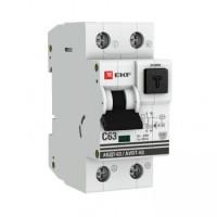 Дифференциальный автомат АВДТ-63 16А/30мА (характеристика C, эл-мех тип A) 6кА EKF