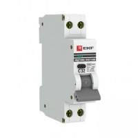 Дифференциальный автомат АВДТ-63М 10А/30мА (1мод., хар.C, электронный тип AС) 6кА EKF