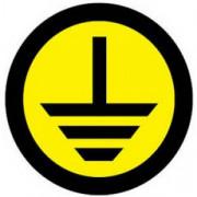 Знак круглый земля (1шт) (d20мм)