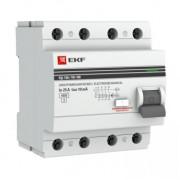 Устройства защитного отключения УЗО 4P 40А/100мА (эл-мех) ВД-100 EKF PROxima