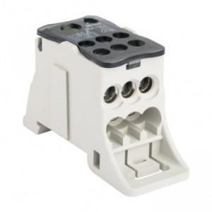 Блок распределительный КБР-125 КРОСС, крепёж на монтажную панель и DIN рейку EKF