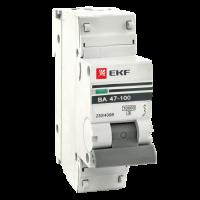 Автоматический выключатель ВА47-100 1P 100А C 10кА EKF PROxima (уп/4/36)