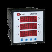Вольтметр VM-D723 цифровой на панель 72х72 трехфазный EKF PROxima