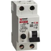 АВДТ-63 10А/30мА электронный тип А (характеристика С) 6кА EKF (уп/120)