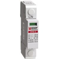 Ограничитель импульсных напряжений серии ОПВ-C/2P In 20кА 400В (с сигнализацией) EKF