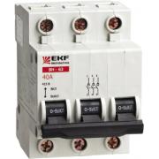 Выключатель нагрузки ВН-125 3Р 100А EKF PROxima