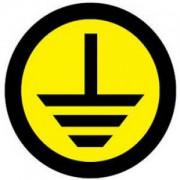 Знак круглый земля EKF