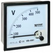 Вольтметр VM-A721 аналоговый на панель 72х72 500В (квадратный вырез) прям.включ. EKF