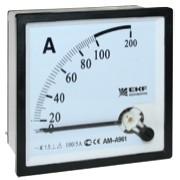 Амперметр AM-A961 аналоговый на панель 96х96 (квадратный вырез)600А трансформаторное подключение EKF