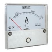 Амперметр AM-A801 аналоговый на панель 80х80 (круглый вырез) 300А трансформаторное подключение EKF
