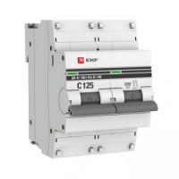 Автоматический выключатель ВА 47-100, 2P 25А (D) 10kA EKF