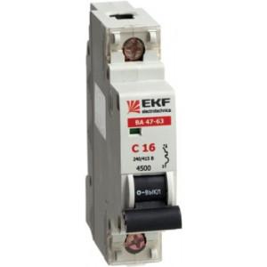Автоматический выключатель ВА47-63 1P 4А C 4,5кА EKF (уп/12/120)