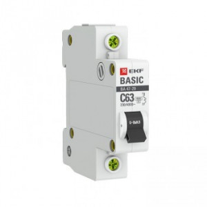 Автоматический выключатель ВА 47-29 1Р 25А (С) 4,5кА EKF