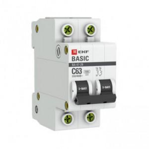 Автоматический выключатель ВА 47-29 2Р 25А (С) 4,5кА EKF