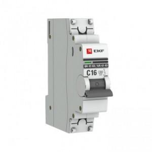 Автоматический выключатель ВА 47-63, 1P 32А (C) 4,5kA EKF PROxima