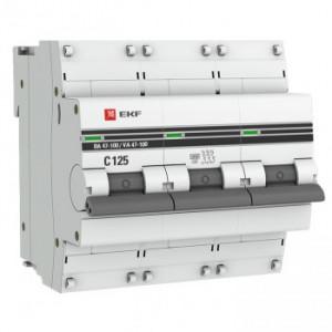 Автоматический выключатель ВА47-100 3P 100А C 10кА EKF PROxima (уп/4/36)