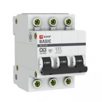 Автоматический выключатель ВА 47-29, 3P 20А (C) EKF Basic