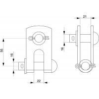 SH195 промежуточное звено для изоляторов SDI90 (уп.50шт)