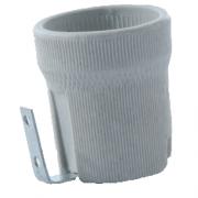 Патрон Е27 керамический с держателем IP20 КЭАЗ (уп/400шт)