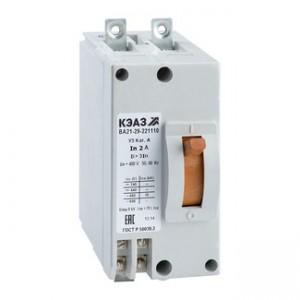 Автоматический выключатель ВА 21-29-241110-12IH-380 10А У3(уп/1) КЭАЗ