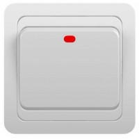 Выключатель 1кл с инд. с/у 10А 250В белый Classic 2121 POWERMAN (уп/10/200шт)