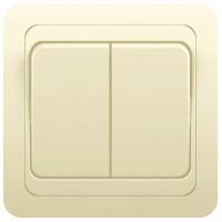 Выключатель 2кл с/у 10А 250В крем Classic 2023 POWERMAN (уп/10/200шт)