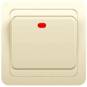 Выключатель 1кл с инд. с/у 10А 250В крем Classic 2121 POWERMAN (уп/10/200шт)