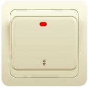 Переключатель 1кл с инд. 3пол. с/у 10А 250В крем Classic 2125 POWERMAN (уп/10/200шт)