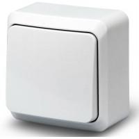 Выключатель 1кл о/у 10А 250В белый Fazenda 7021 POWERMAN (уп/36/432шт)