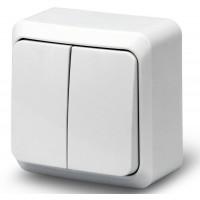 Выключатель 2кл о/у 10А 250В белый Fazenda 7023 POWERMAN (уп/36/432шт)