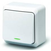 Выключатель 1кл инд о/у 10А 250В белый Fazenda 7121 POWERMAN (уп/36/432шт)