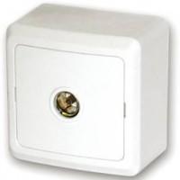 Розетка ТВ о/у белый Fazenda 7027 POWERMAN (уп/36/360шт)