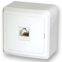 Розетка компьютерная 1м о/у белый Fazenda 7035 POWERMAN (уп/36/360шт)