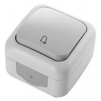 Кнопка звонка IP54 32.01.012.0601 T.plast