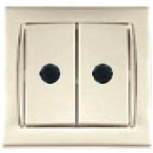 Camilya Выключатель с подсветкой 2кл. (кремовый)